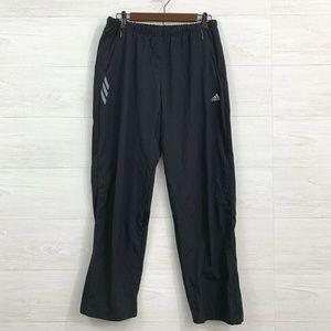 Adidas Black Elastic Waist Pull On Warm Up Pant